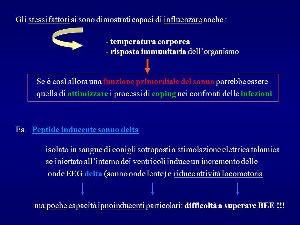 Gli stessi fattori si sono dimostrati capaci di influenzare anche : - temperatura corporea - risposta immunitaria dellorganismo Se è così allora una f