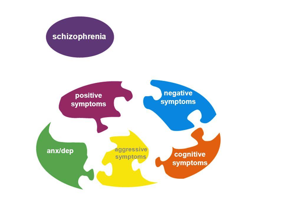 schizophrenia positive symptoms negative symptoms anx/dep aggressive symptoms cognitive symptoms