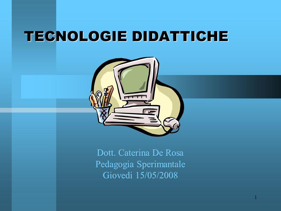 1 TECNOLOGIE DIDATTICHE