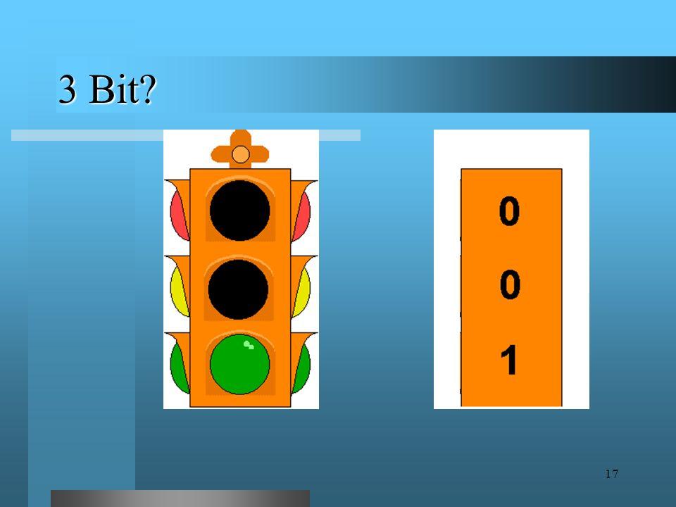16 E se abbiamo a che fare con una scelta fra più di due alternative? Useremo più di 1 bit!