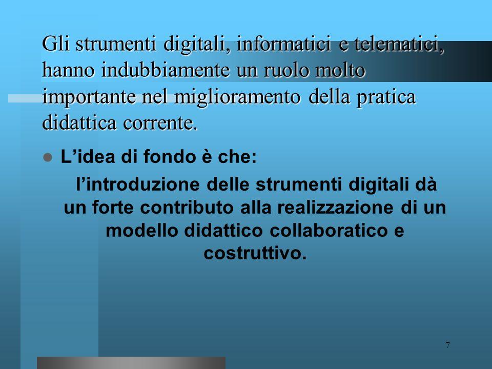 6 Tecnologie Didattiche strumenti metodi e processi tecnologie Tecnologie didattiche didattica Le due anime delle TD