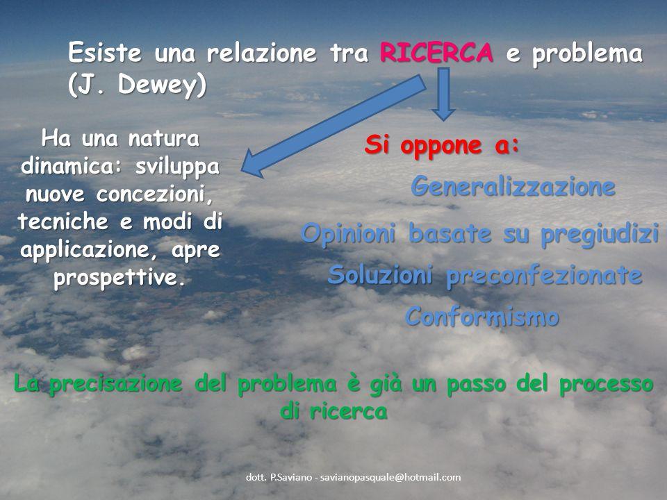 Esiste una relazione tra RICERCA e problema (J.