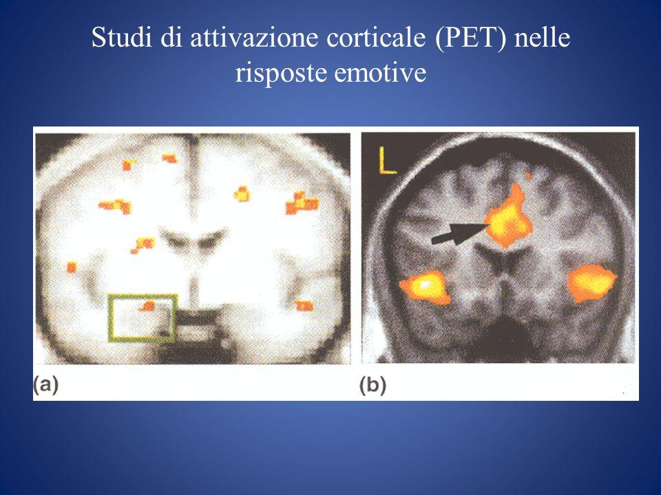 Studi di attivazione corticale (PET) nelle risposte emotive