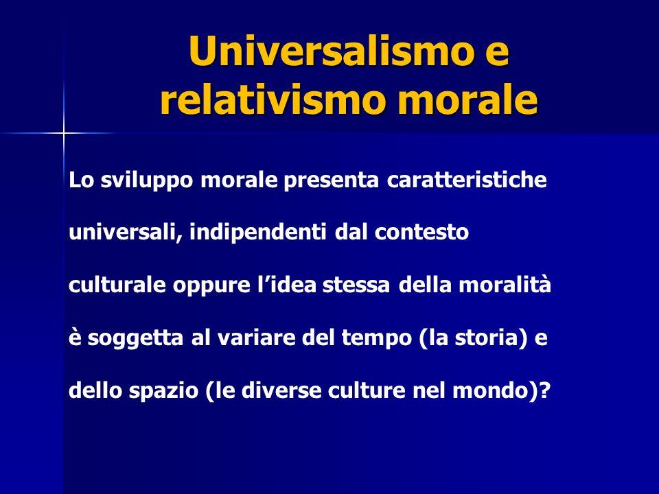 Universalismo e relativismo morale Tesi n.