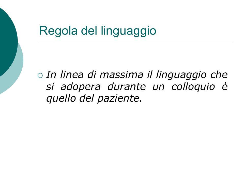 Livelli di osservazione del linguaggio nel colloquio Lingua usata Vocabolario prevalente Ricchezza del lessico Stile (sintassi, stile oratorio) Analisi delle figure retoriche utilizzate