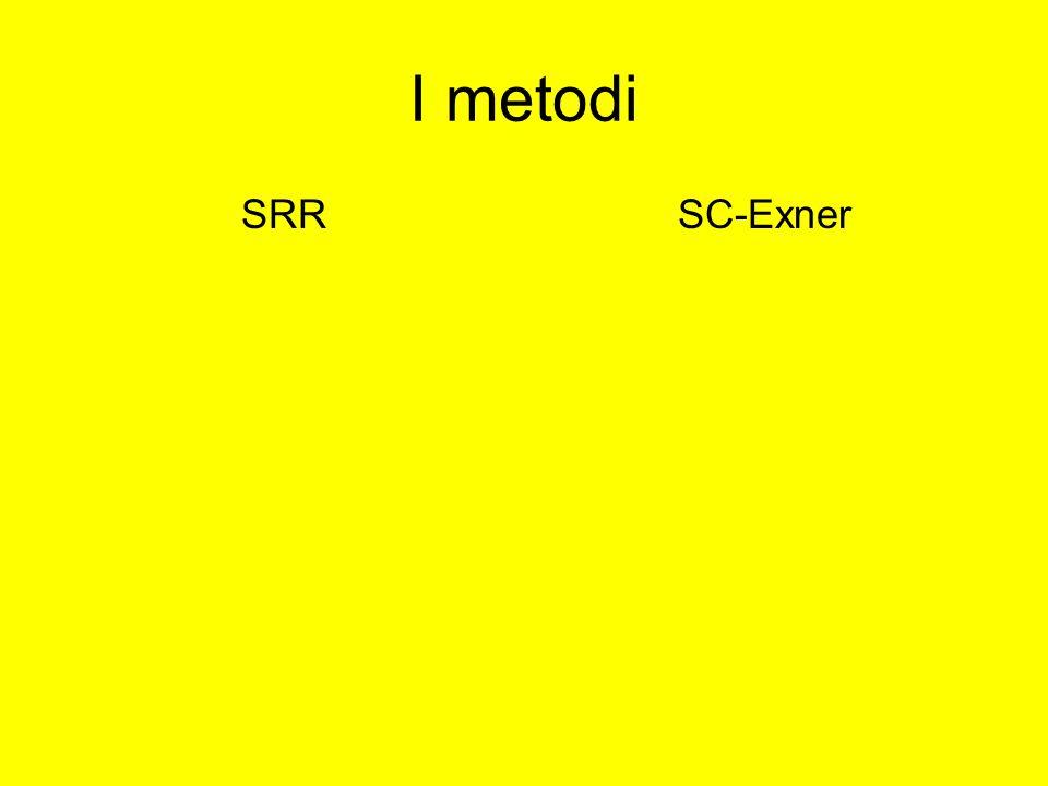 I metodi SRRSC-Exner