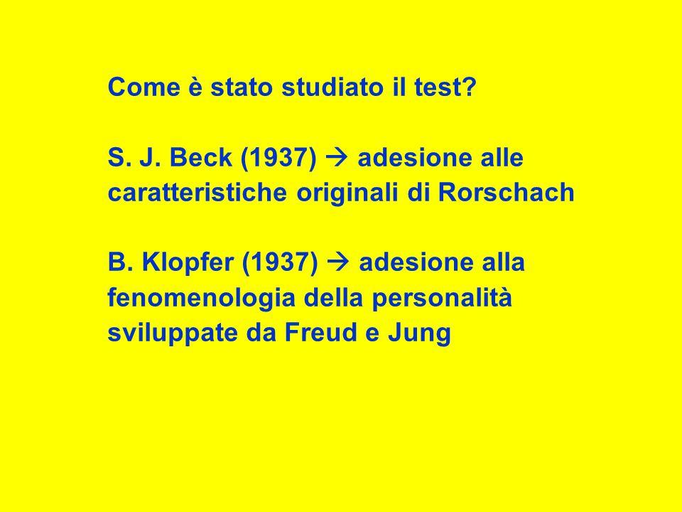 Come è stato studiato il test.S. J.