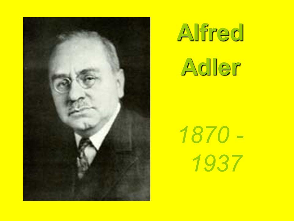 AlfredAdler 1870 - 1937