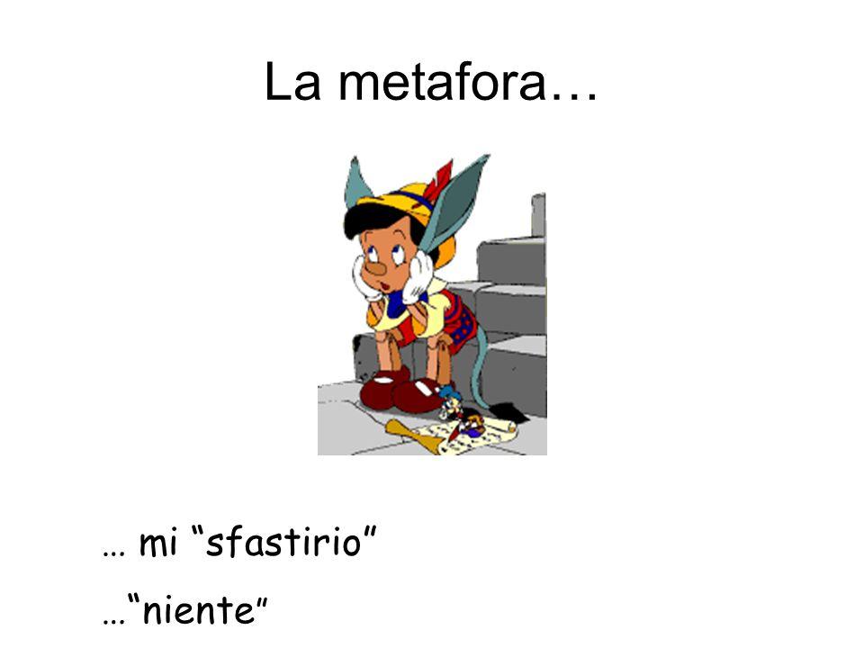 La metafora… … mi sfastirio …niente