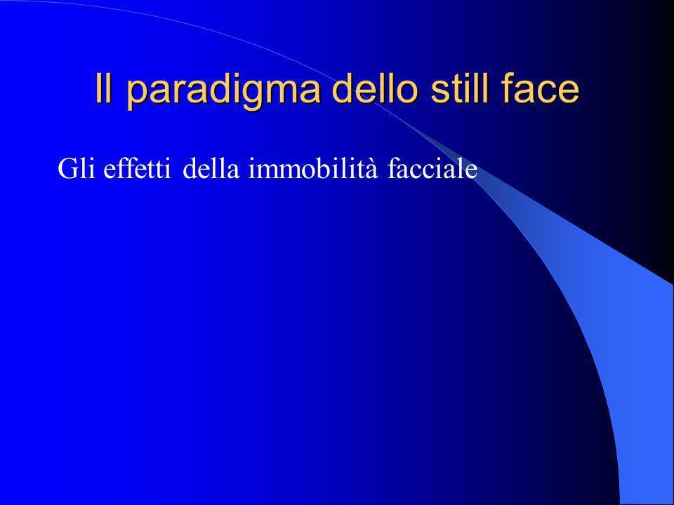 Il paradigma dello still face Gli effetti della immobilità facciale