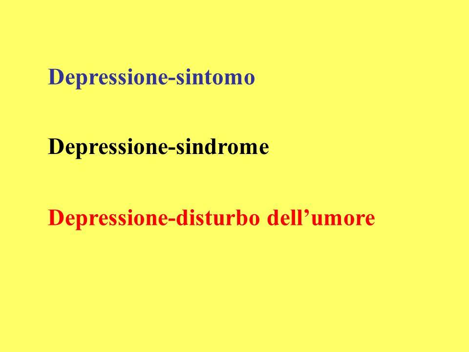 Depressione-sintomo Depressione-sindrome Depressione-disturbo dellumore