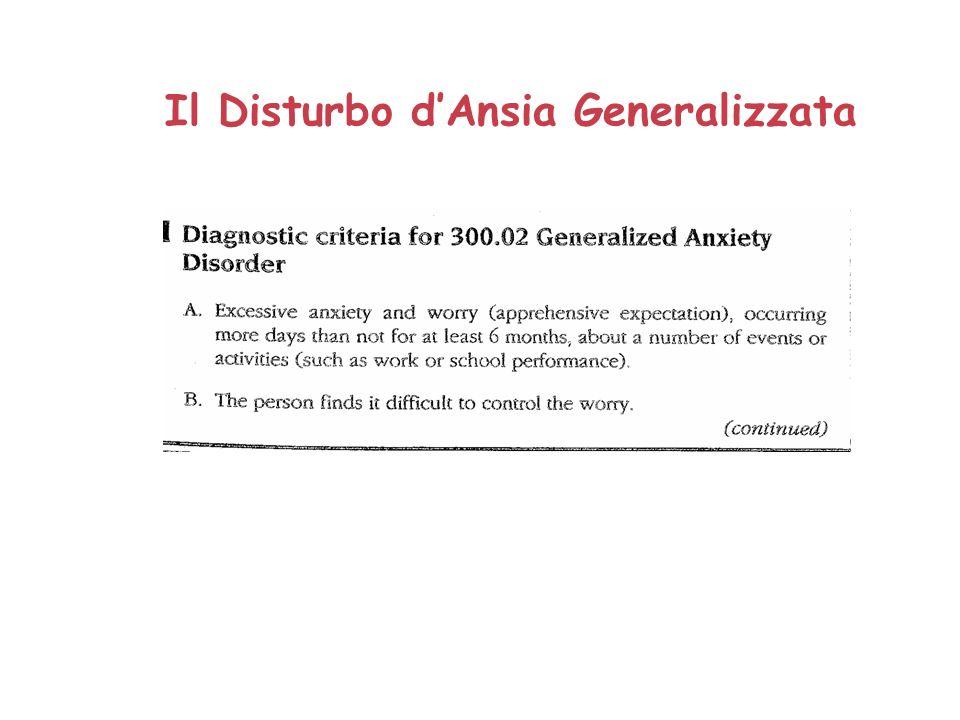 Il Disturbo dAnsia Generalizzata