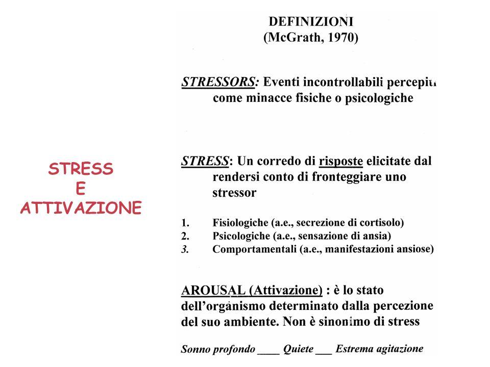 STRESS E ATTIVAZIONE