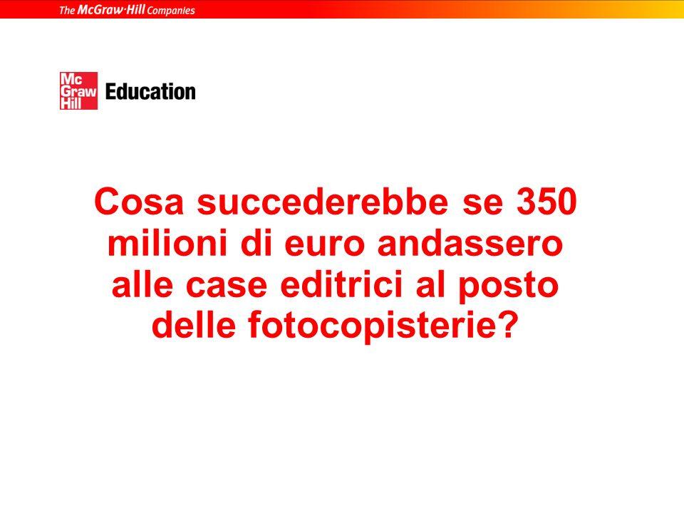 Un po di numeri Fatturato di tutte le fotocopisterie in Italia in un anno 350 milioni di euro* Fatturato delle prime dieci case editrici nel settore u
