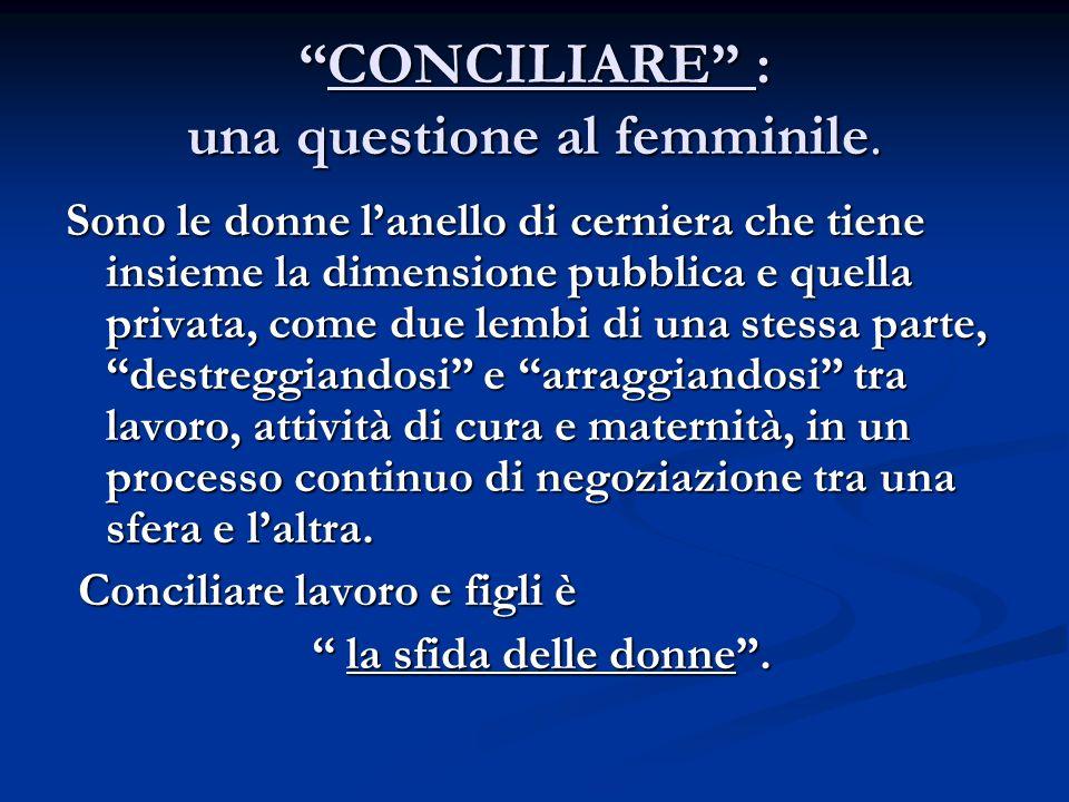 CONCILIARE : una questione al femminile.CONCILIARE : una questione al femminile.