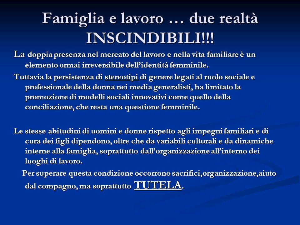 Famiglia e lavoro … due realtà INSCINDIBILI!!.