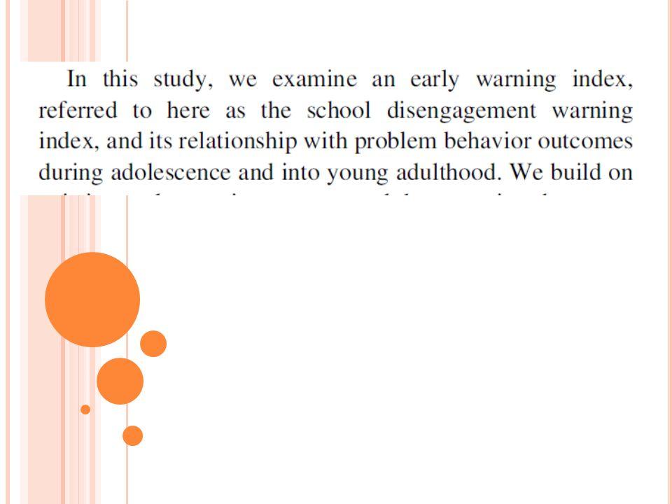 C AMPIONE Sono stati utilizzati dati provenienti dal Rochester Youth Development Study (RYDS), uno studio panel longitudinale che ha avuto inizio nel 1988 e ha coinvolto 911 studenti ( 73% maschi) del 7° e 8°.