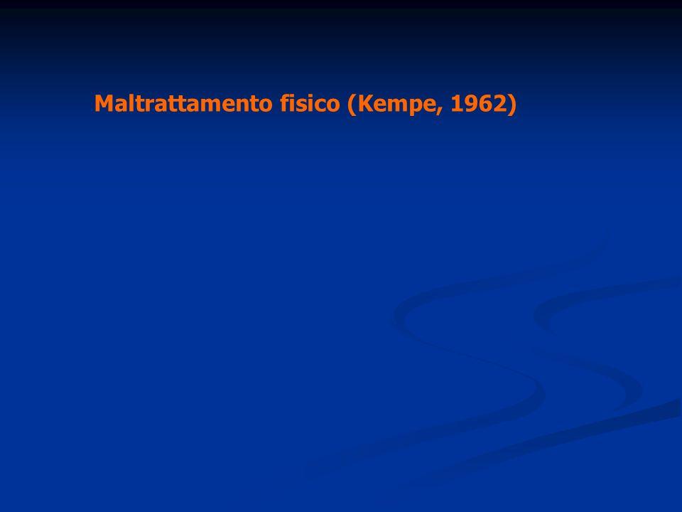 Maltrattamento fisico (Kempe, 1962)