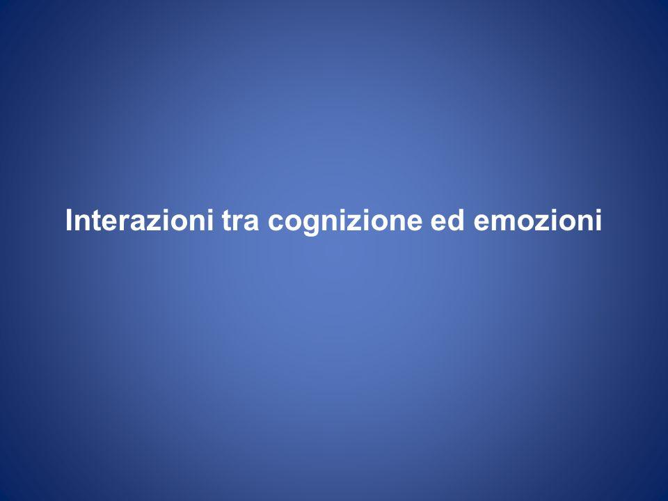 Interazioni tra cognizione ed emozioni