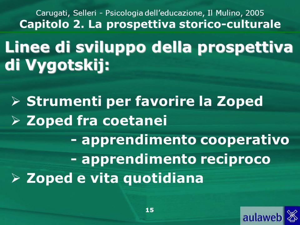16 Carugati, Selleri - Psicologia delleducazione, Il Mulino, 2005 Capitolo 2.