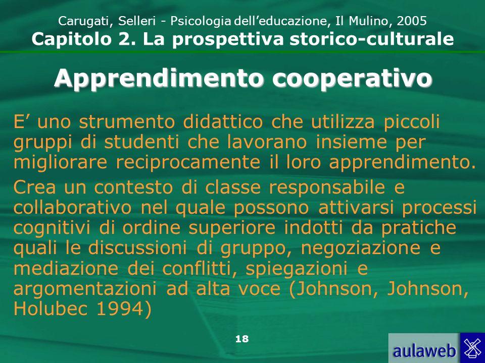 19 Carugati, Selleri - Psicologia delleducazione, Il Mulino, 2005 Capitolo 2.
