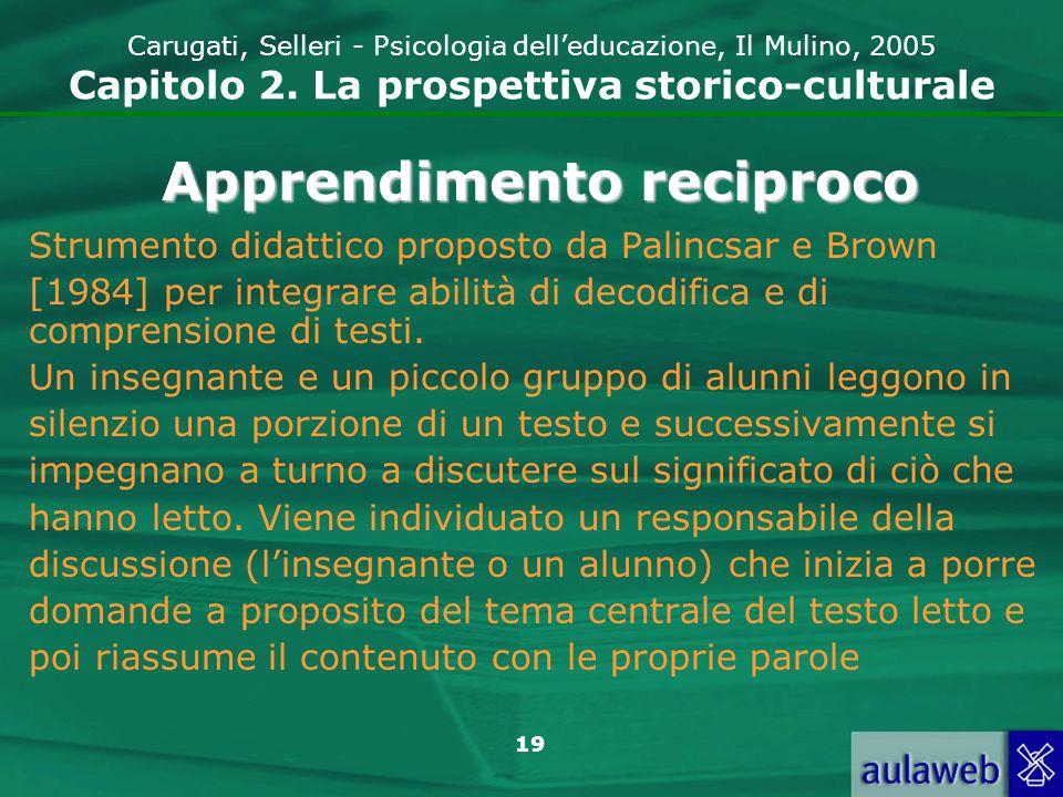 20 Carugati, Selleri - Psicologia delleducazione, Il Mulino, 2005 Capitolo 2.