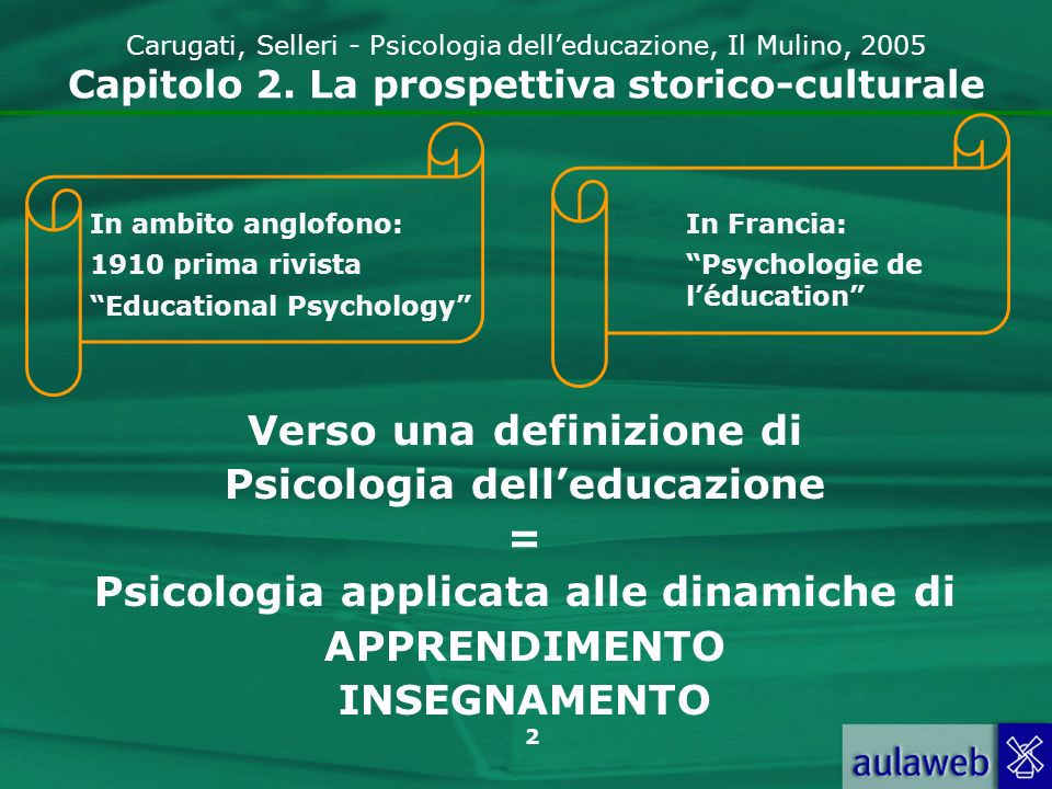 3 Carugati, Selleri - Psicologia delleducazione, Il Mulino, 2005 Capitolo 2.
