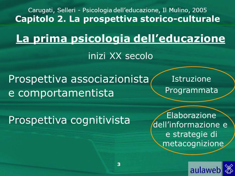 4 Carugati, Selleri - Psicologia delleducazione, Il Mulino, 2005 Capitolo 2.