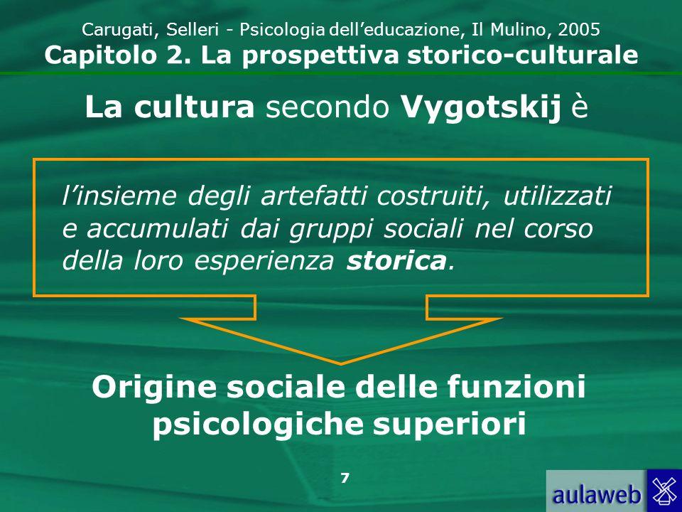 8 Carugati, Selleri - Psicologia delleducazione, Il Mulino, 2005 Capitolo 2.