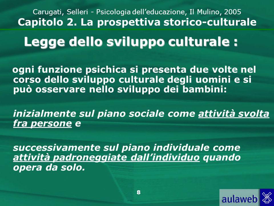 9 Carugati, Selleri - Psicologia delleducazione, Il Mulino, 2005 Capitolo 2.