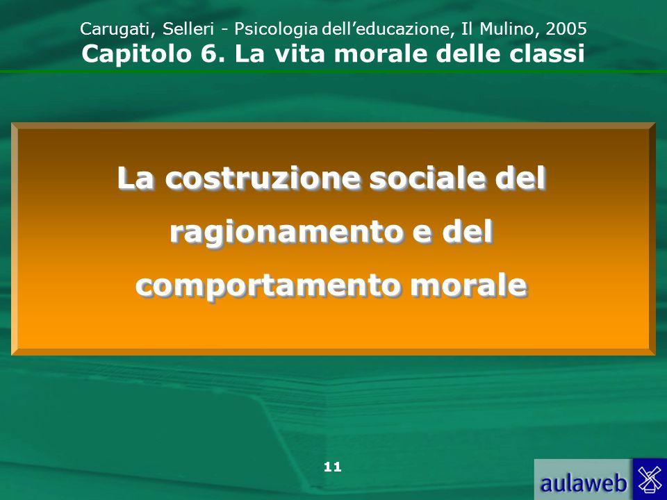 11 Carugati, Selleri - Psicologia delleducazione, Il Mulino, 2005 Capitolo 6.