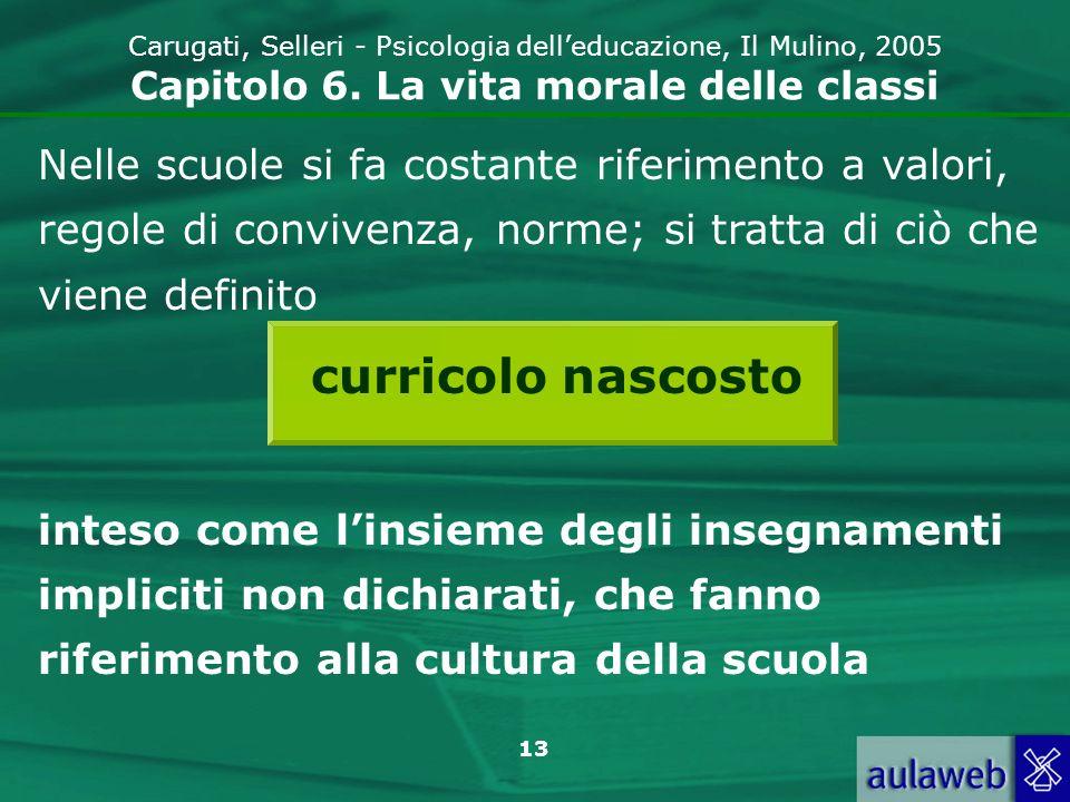 13 Carugati, Selleri - Psicologia delleducazione, Il Mulino, 2005 Capitolo 6.