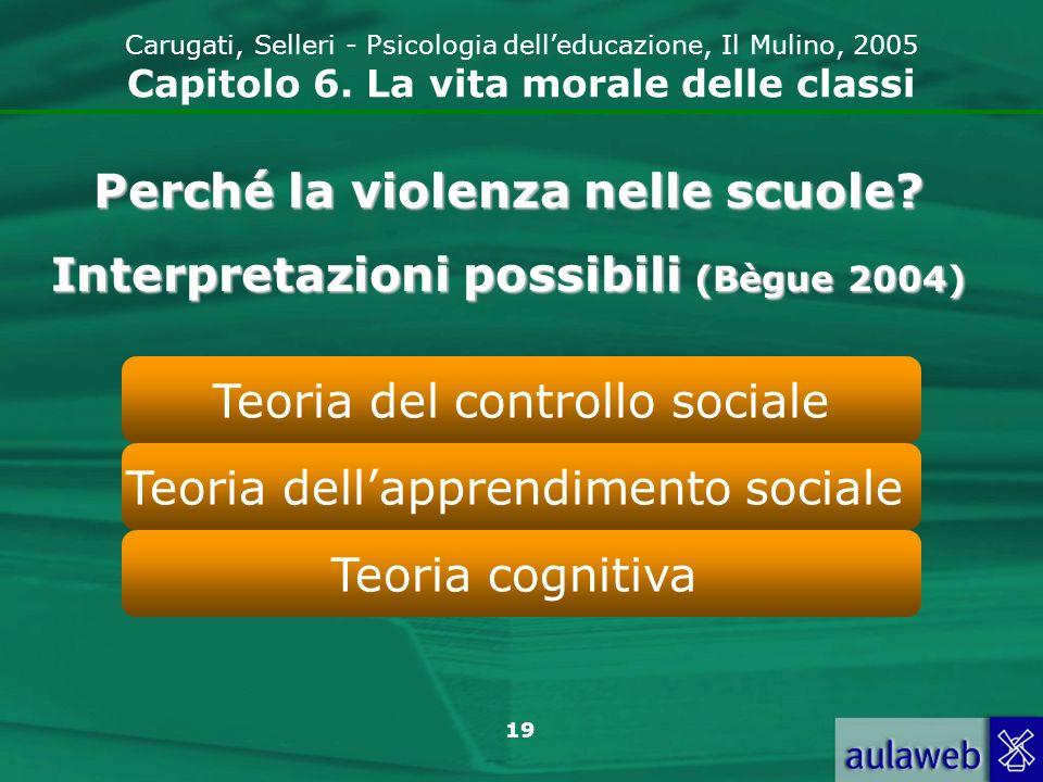 19 Carugati, Selleri - Psicologia delleducazione, Il Mulino, 2005 Capitolo 6.