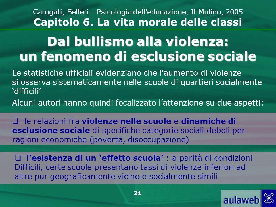 21 Carugati, Selleri - Psicologia delleducazione, Il Mulino, 2005 Capitolo 6.