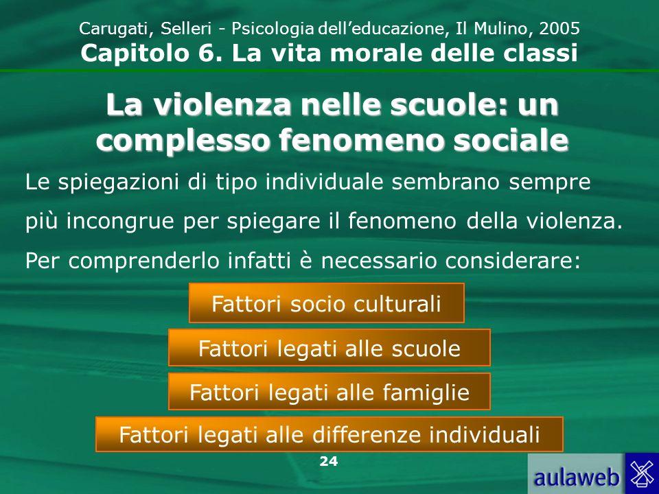 24 Carugati, Selleri - Psicologia delleducazione, Il Mulino, 2005 Capitolo 6.
