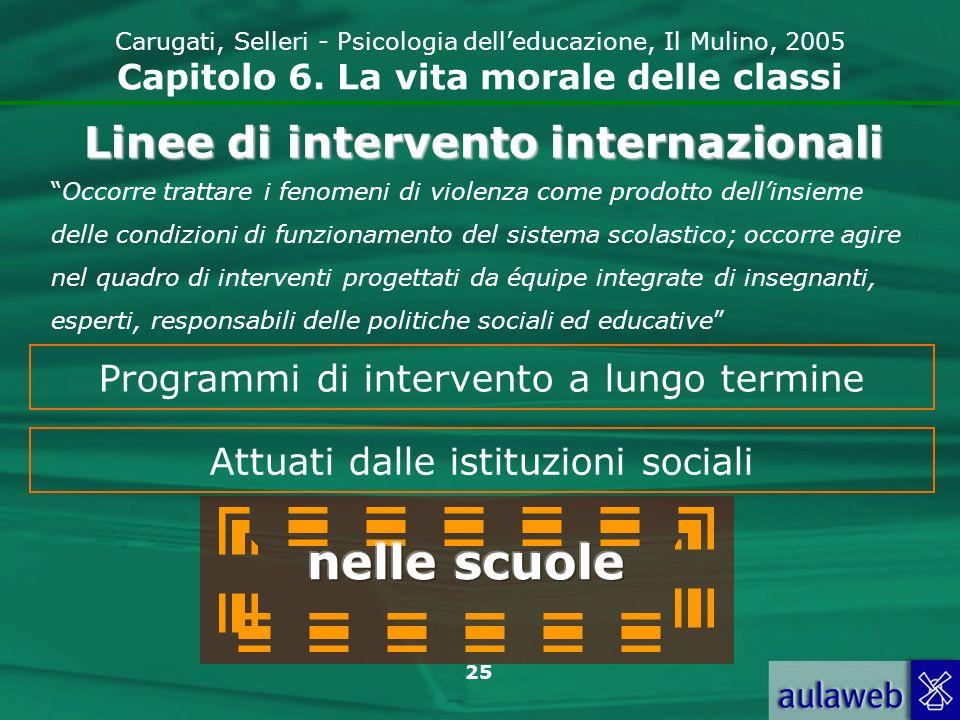 25 Carugati, Selleri - Psicologia delleducazione, Il Mulino, 2005 Capitolo 6.