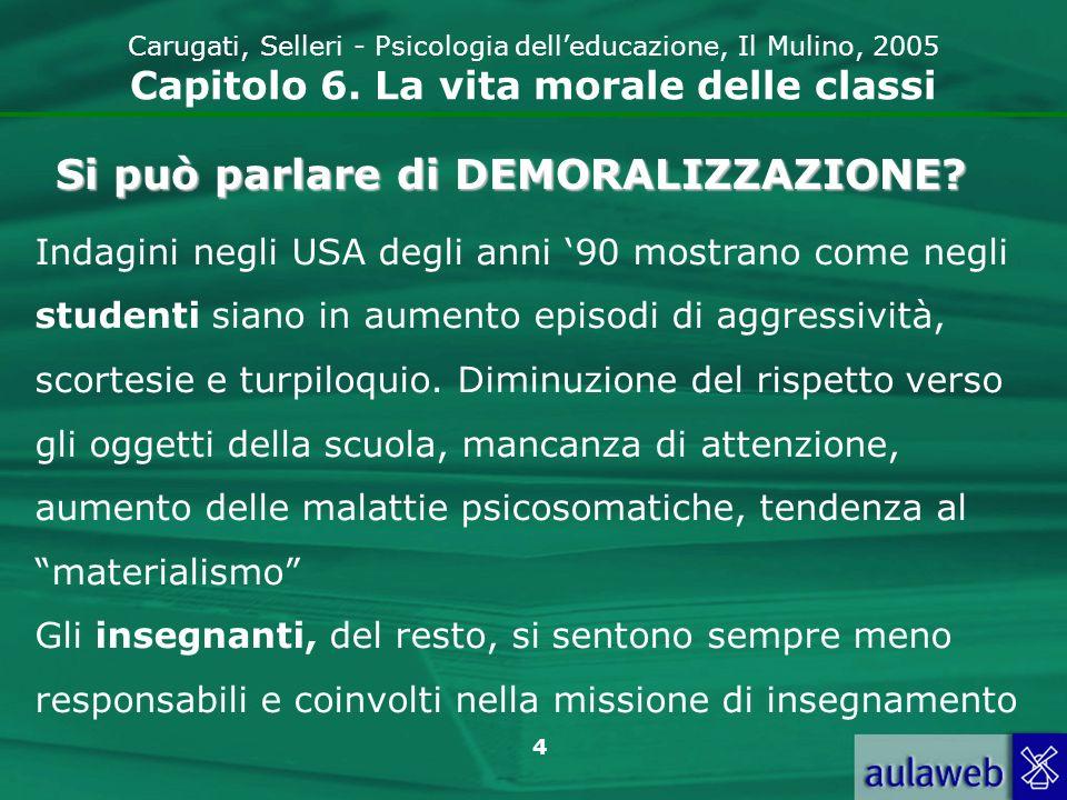 5 Carugati, Selleri - Psicologia delleducazione, Il Mulino, 2005 Capitolo 6.