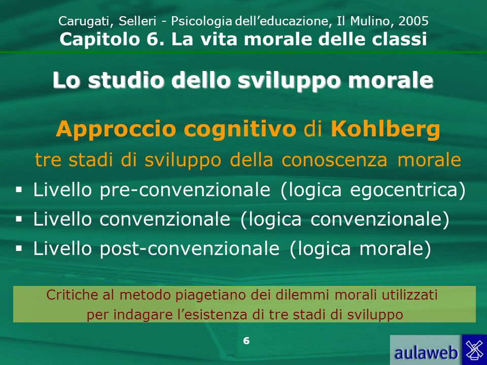 6 Carugati, Selleri - Psicologia delleducazione, Il Mulino, 2005 Capitolo 6.