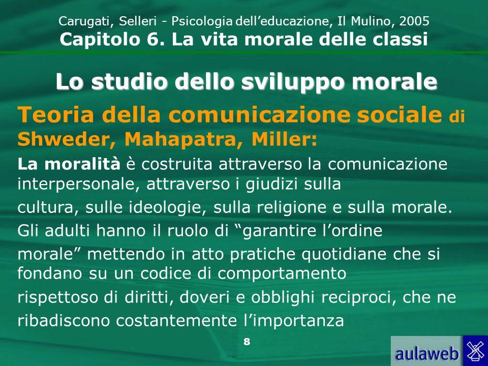 9 Carugati, Selleri - Psicologia delleducazione, Il Mulino, 2005 Capitolo 6.