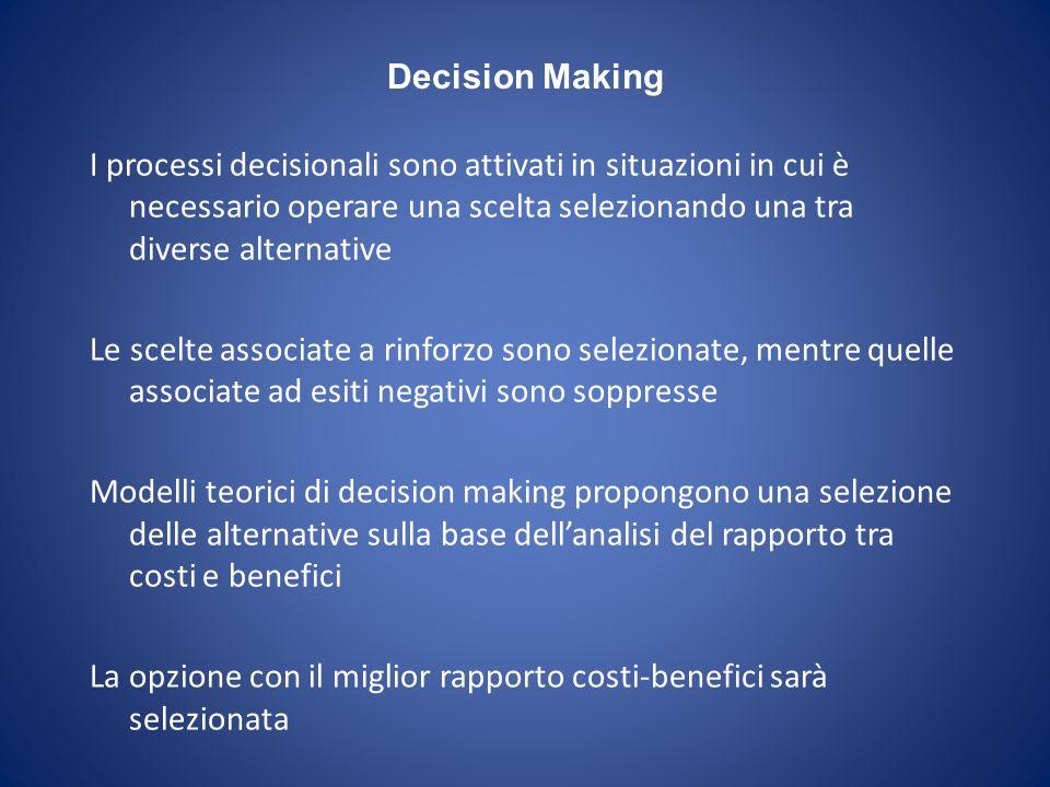 Attuare processi decisionali in situazioni complesse (es.