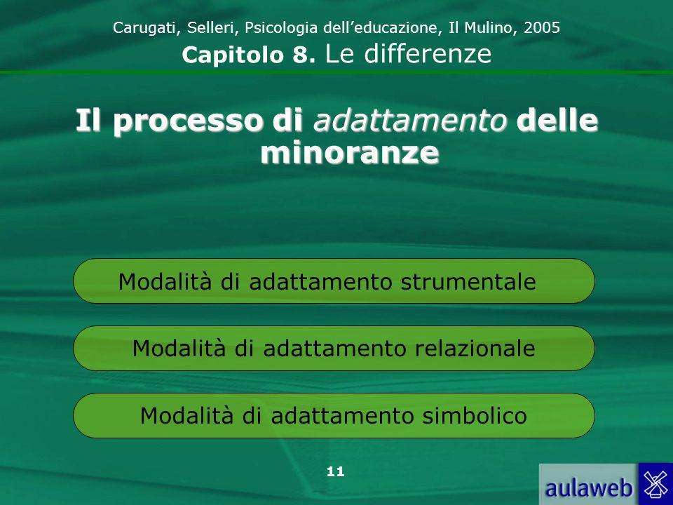 11 Carugati, Selleri, Psicologia delleducazione, Il Mulino, 2005 Capitolo 8.