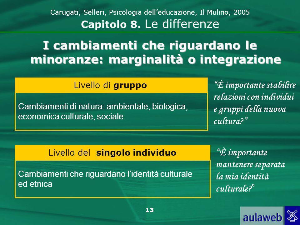 13 Carugati, Selleri, Psicologia delleducazione, Il Mulino, 2005 Capitolo 8.