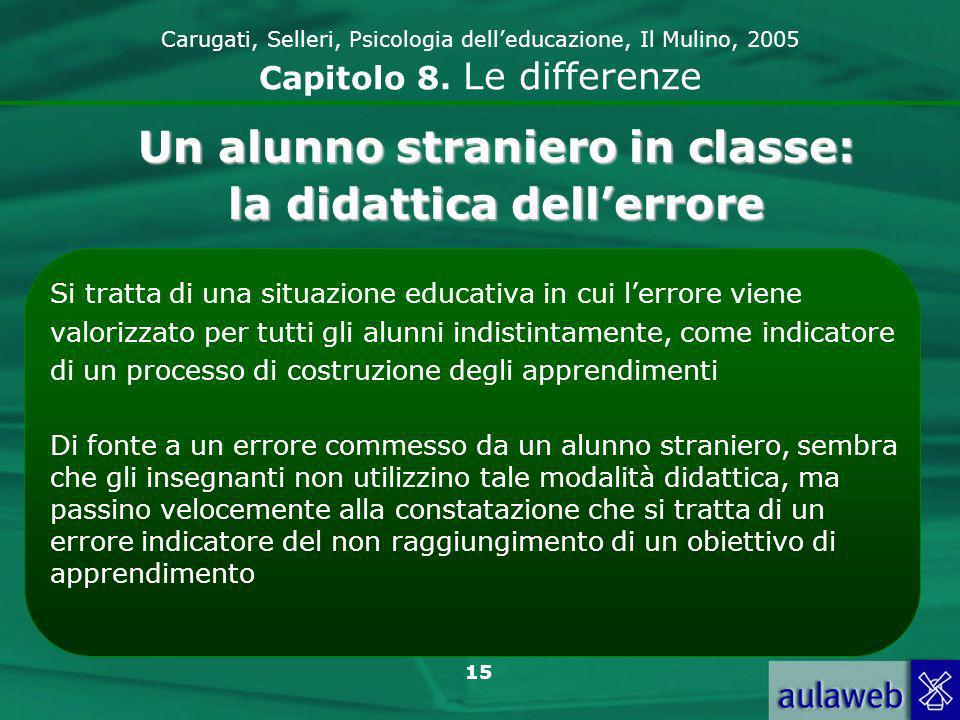 15 Carugati, Selleri, Psicologia delleducazione, Il Mulino, 2005 Capitolo 8.