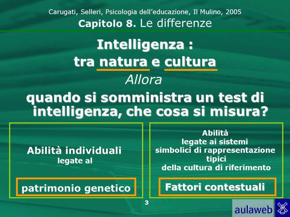 3 Carugati, Selleri, Psicologia delleducazione, Il Mulino, 2005 Capitolo 8.