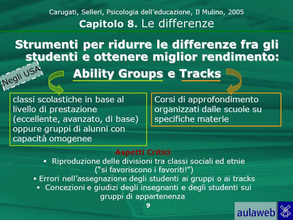 9 Carugati, Selleri, Psicologia delleducazione, Il Mulino, 2005 Capitolo 8.