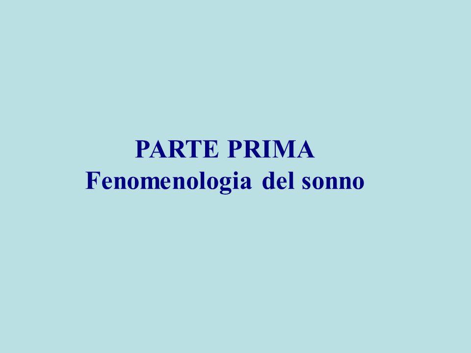 PARTE PRIMA Fenomenologia del sonno