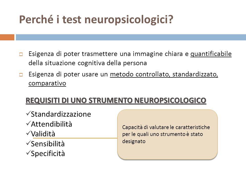 Perché i test neuropsicologici.