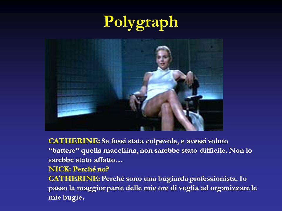 Polygraph CATHERINE: Se fossi stata colpevole, e avessi voluto battere quella macchina, non sarebbe stato difficile. Non lo sarebbe stato affatto… NIC