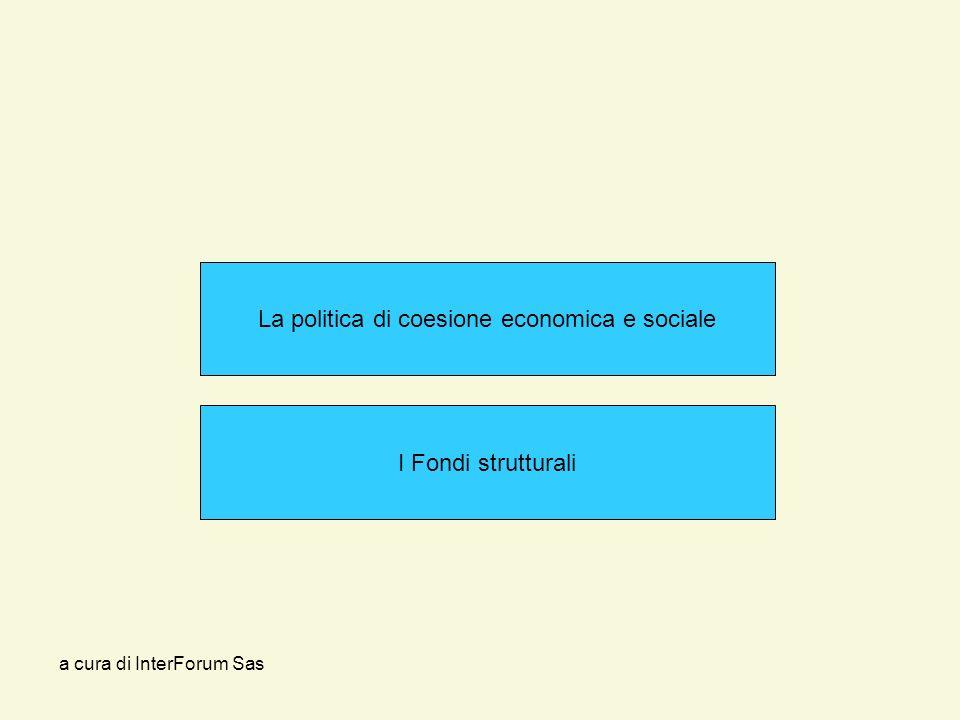 a cura di InterForum Sas La politica di coesione economica e sociale I Fondi strutturali
