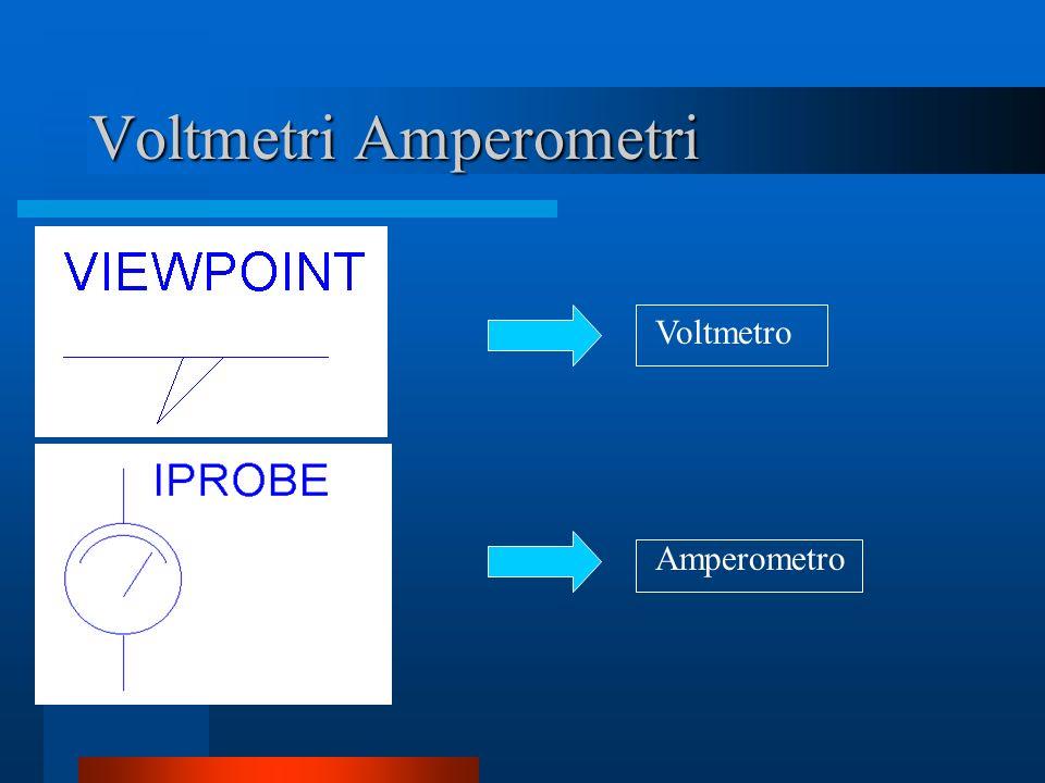 Voltmetri Amperometri Voltmetro Amperometro